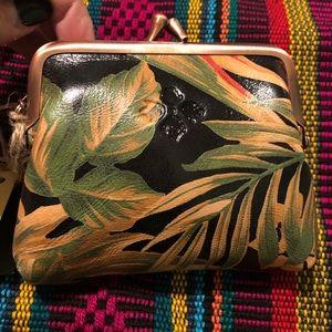 Patricia Nash Leather Coin Purse Tropical print